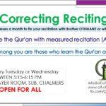 Correcting Reciting